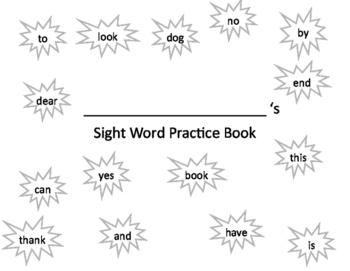 Sight Word Handwriting Practice Book 2
