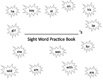 Sight Word Handwriting Practice Book 3