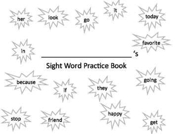 Sight Word Handwriting Practice Book 4