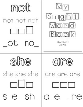Sight Word Practice Book (Westerville City Schools)