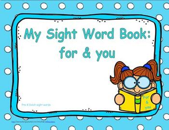 """Sight Word Practice Book and Emergent Reader - """"for & you"""""""