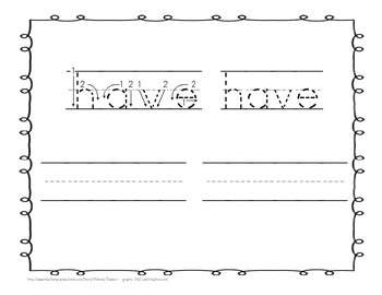 """Sight Word Practice Book and Emergent Reader - """"have"""""""