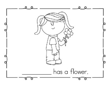 """Sight Word Practice Book and Emergent Reader - """"he & she"""""""