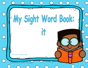 Sight Word Practice Book and Emergent Reader - it