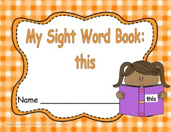 """Sight Word Practice Book and Emergent Reader - """"this"""""""