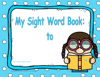 """Sight Word Practice Book and Emergent Reader - """"to"""""""