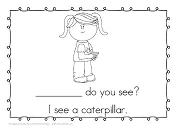 "Sight Word Practice Book and Emergent Reader - ""what"""