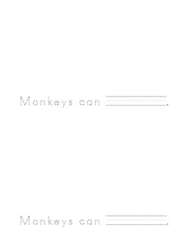 "Sight Word Booklet for ""Can"" (Monkeys Can Play Sports)"