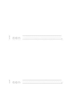 """Sight Word Booklet for """"I Can"""" (Kindergarten Tasks)"""