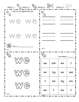 Sight Word Practice Booklets (beginning/ ELL)