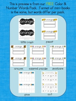 Sight Word Practice Books:  Pre-Primer Dolch Words