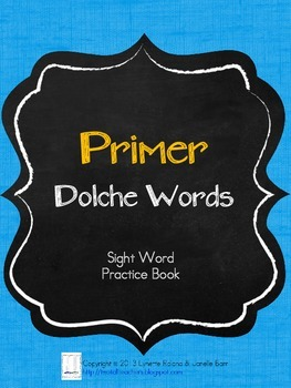 Sight Word Practice Books: Primer