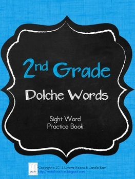 Sight Word Practice Books: Second Grade Dolch Words