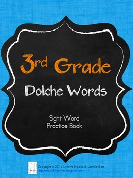 Sight Word Practice Books: Third Grade Dolch Words