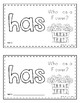 Sight Word Practice Books [has]