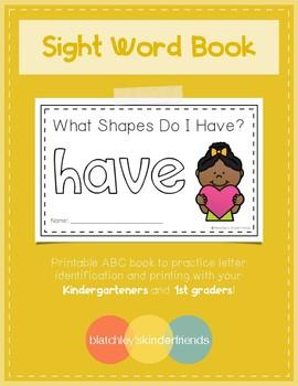 Sight Word Book - HAVE *Shapes Edition*