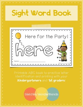 Sight Word Practice Books [here]