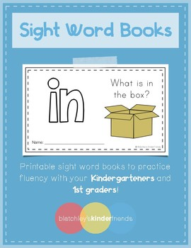Sight Word Practice Books [in]