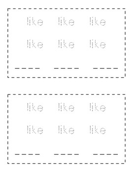 Sight Word Practice Books [like]