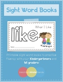 Sight Word Practice Books [like]