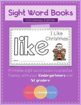 Sight Word Practice Books [like] *Christmas Edition*