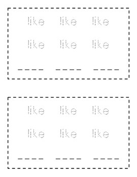 Sight Word Practice Books [like] *Christmas Edition*