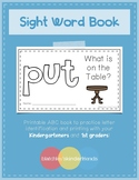 Sight Word Book - PUT