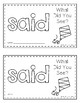 Sight Word Practice Books [said]