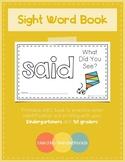 Sight Word Book - SAID