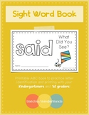 Sight Word Practice Books [said]