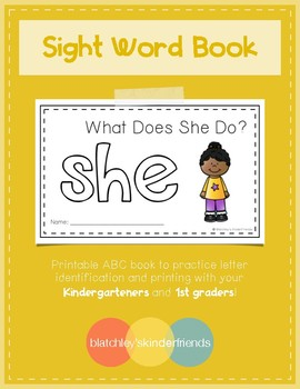 Sight Word Practice Books [she]