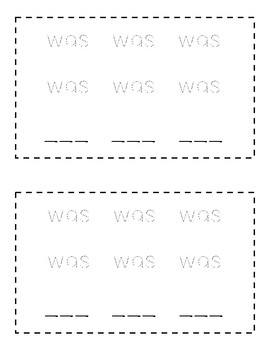 Sight Word Books - WAS