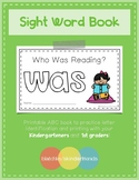 Sight Word Book - WAS