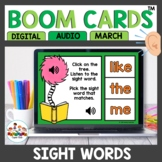 Sight Word Practice Boom Cards March