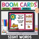 Sight Word Practice Boom Cards Spring Themed
