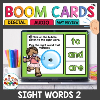 Sight Word Practice Boom Cards for Kindergarten Set 2