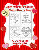 Sight Word Practice Boxes, Fry's First 100, Words 1-50, Va