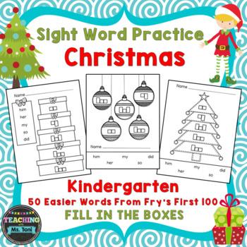 Sight Word Practice Boxes, Literacy First Kindergarten Wor