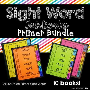 Sight Word Practice Bundle | Dolch Primer | Tab Books
