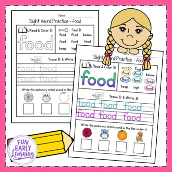 Sight Word Practice Bundle - Fry's 1st, 2nd, and 3rd 100 Sight Words NO PREP