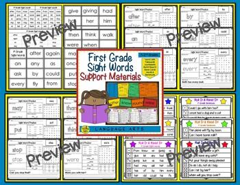 Sight Word Practice Bundle:  Pre Primer - 3rd Grade