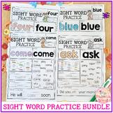 Sight Word Practice Bundle | Print & Digital | Google Slid