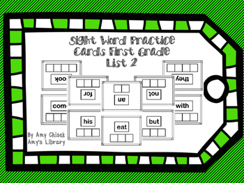 Sight Word Practice Cards Grade 1 List 2