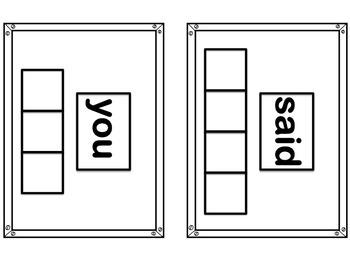 Sight Word Practice Cards Grade 1 List 1