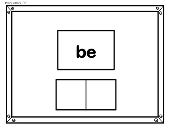 Sight Word Practice Cards Kindergarten List 2