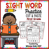 Sight Word Practice Cut and Paste - 1st Grade