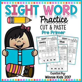 Sight Word Practice Cut and Paste - Pre Primer