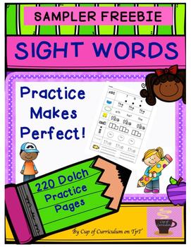 Dolch Sight Words SAMPLER