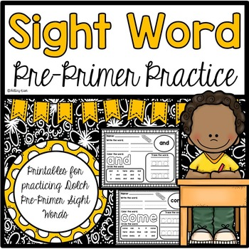Sight Word Practice (Dolch Pre-Primer Words)