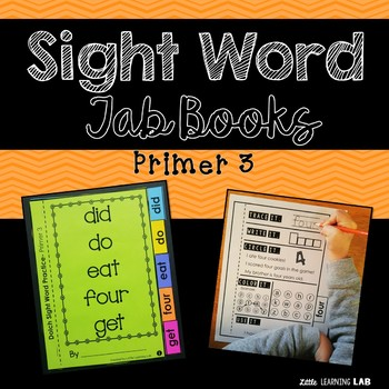 Sight Word Practice | Dolch Primer 3 | Tab Book